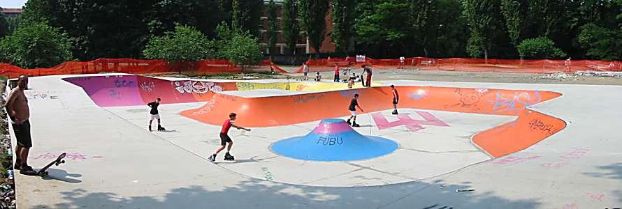 Concrete Rudolph spot beschreibung skatepark mailand italien